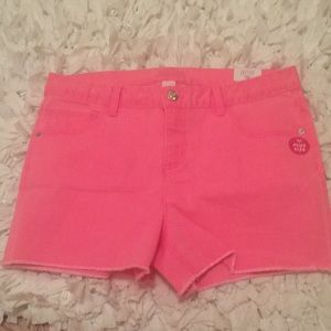 Justice size 18 jean shorts NWT
